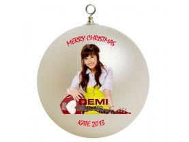 Demi Lovato #2 Personalized Custom Christmas Ornament