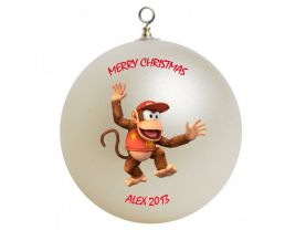 Diddy Kong Personalized Custom Christmas Ornament