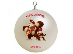 Donkey Kong & Diddy Kong Personalized Custom Christmas Ornament