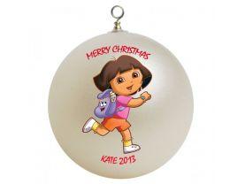 Dora the Explorer Personalized Custom Christmas Ornament