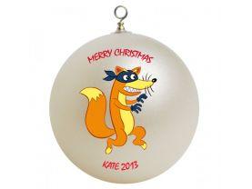 Dora the Explorer Swiper Personalized Custom Christmas Ornament