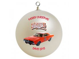 Dukes of Hazzard Personalized Custom Christmas Ornament