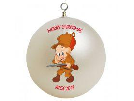Elmer Fudd Personalized Custom Christmas Ornament