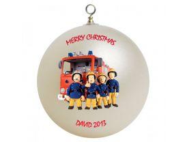 Fireman Sam Personalized Custom Christmas Ornament