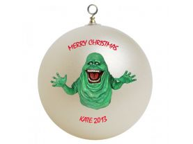 Ghostbusters Slimer Personalized Custom Christmas Ornament