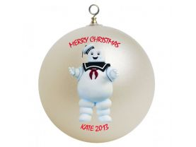 Ghostbusters Stay Puft Marshmellow Man Personalized Custom Christmas Ornament