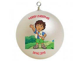 Go Diego Go Personalized Custom Christmas Ornament