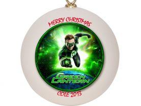 Green Lantern Personalized Custom Christmas Ornament
