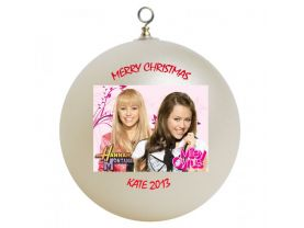 Hannah Montana & Miley Cyrus Personalized Custom Christmas Ornament