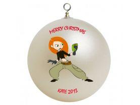 Kim Possible Personalized Custom Christmas Ornament