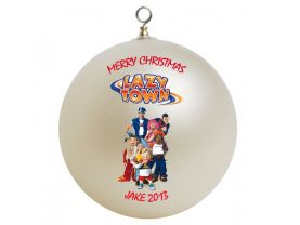 Lazy Town Personalized Custom Christmas Ornament