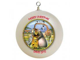 Madagascar Personalized Custom Christmas Ornament #3