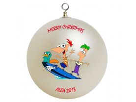 Phineas and Ferb Personalized Custom Christmas Ornament