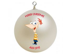 Phineas and Ferb Phineas Personalized Custom Christmas Ornament