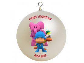 Pocoyo Personalized Custom Christmas Ornament