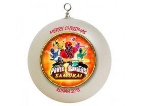 Power Rangers Samurai Personalized Custom Christmas Ornament