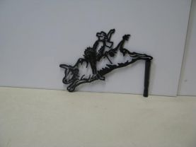 Bull Rider Western Metal Art Silhouette