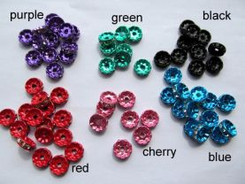 top quality 8mm 500pcs matt fish rondelle spacer tone red purple green blue pink rose black multicolor crystal rhinestone jewelry finding