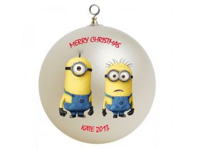 Despicable Me Minions Personalized Custom Christmas Ornament