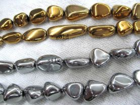 fashion 2strands 15-20mm titanium quartz  gergous nuggets brick  crystal peach gold grey mixed jewelry charm bead