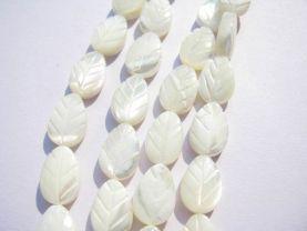 6x8 8x12 10x14 12x16 13x18 15x20mm full strandgenuine MOP shell gergous  leaf carved white  beads