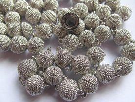 bulk 12mm 100pcs  round margnetic clasp silver rose gold antique black assortment  connectors 10mm  100pcs