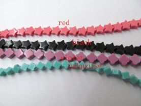 handmade 8mm 5strands  turquoise bead,high quality star pink red blue white black mixed beads