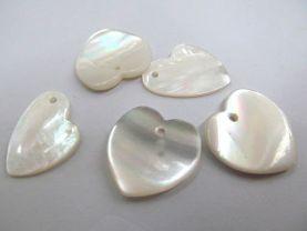 top quality  16mm 12pcs handmade genuine natural shell MOP jewellry bead heart florial teardrop focal ring