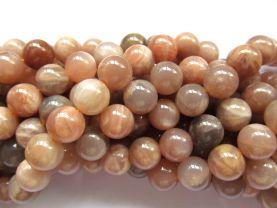 btach 6strands 8mm  natural sunstone gemstone round ball grey oranger loose beads