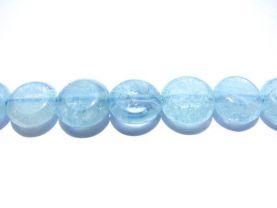 bulk high quality  7-8mm gemstone roundelle disc coin  natural aquamarine-beryl stone 5strands 16inch/per