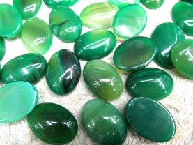 100pcs 10-35mm natural agate gemstone oval egg cabochons green crystal jewelry beads