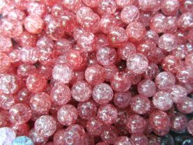 6-12mm full strand high quality natural quartz round ball cracked hot red assortment jewelry beads