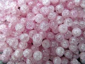 6-12mm full strand high quality natural quartz round ball cracked lemon baby pink red  assortment jewelry beads