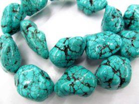 high quality 18-25mm 16inch Turquoise gemstone nugget freeform blue green jewelery bead