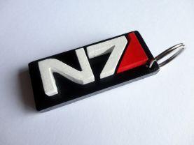 Handmade N7, Mass Effect keychain