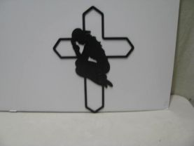 Cowgirl Praying 005 Western Metal Wall Yard Art Silhouette