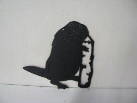 Beaver 451 Metal Wildlife Wall Yard Art Silhouette