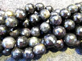 AA grade bulk genuine rainbow obsidian  round ball  faceted jewelry beads 10mm --5strands 16inch/L