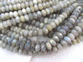 wholesale  genuine labradorite  beads 5x8mm 2strands 16inch strand ,high quality rondelle abacus faceted blue jewelry beads