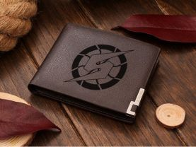 Metroid  Brown Leather Wallet