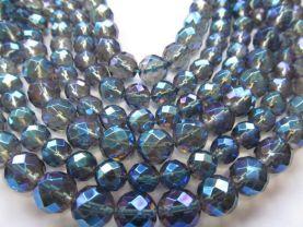 blue quartz beads, 8mm 5strands 16inch strand,round ball briolette mystic AB crystal gergous jewelry beads