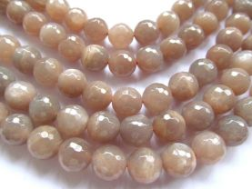 4 6 8 10 12 14 16mm 2strands wholesale discount natural Moonstone gemstone round ball faceted oranger gray  loose beads jewelry