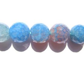 bulk fire agate gemstone  round ball  blue cherry jewelry beads14mm --2strands