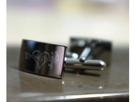 KINGDOM HEARTS Stainless Steel Square Cufflinks
