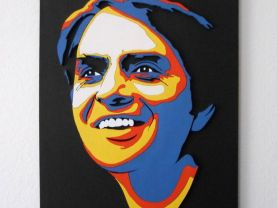 Handmade Portrait of Carl Sagan, wall art