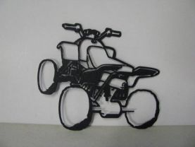 ATV Metal Art Silhouette