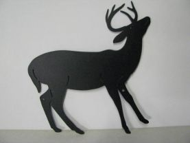 Whitetail Deer 198 Small Metal Art Silhouette