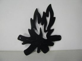 Camp Fire 429 Metal Art Silhouette