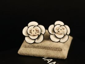new official style earrings 2.1cm*2.1cm 14k plated never fade