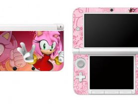 SONIC THE HEDGEHOG AMY ROSE  Nintendo 3DS XL LL Vinyl Skin Decal Sticker